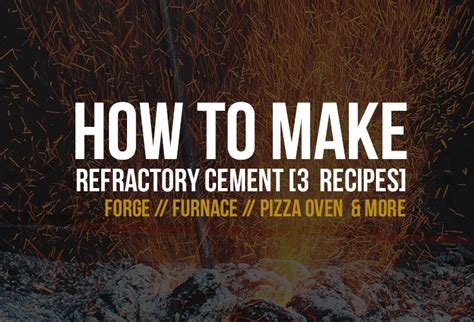 How to make refractory concrete step by step 3  quick to