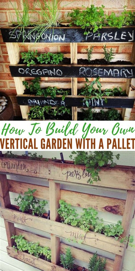 How To Make A Vertical Garden Out Of A Pallet How To Build Your Own Vertical Garden With A Pallet