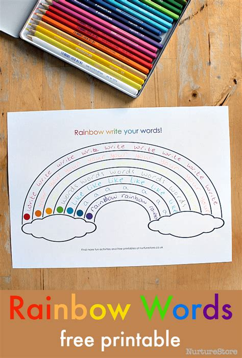 rainbow writing spelling words template rainbow writing spelling words template gallery template
