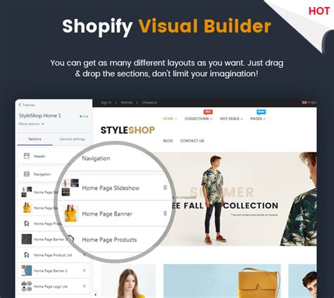 shopify themes nulled styleshop responsive multipurpose sections drag drop