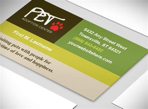 Shelter Insurance Letterhead Animal Shelter Pet Adoption Business Card Template