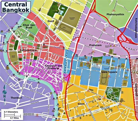 bangkok map thailand and laos journey maps