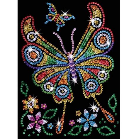 painting for juniors sequin junior butterfly craft kit hobbies