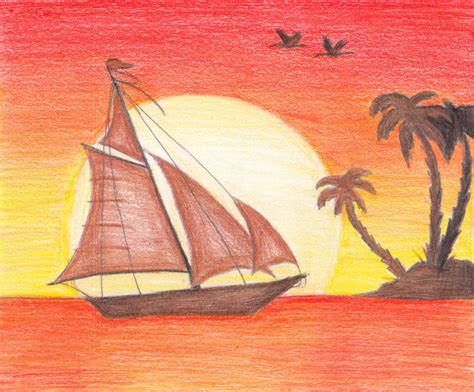 sunset colored pencil color pencil drawings sunset color pencil drawings sunset