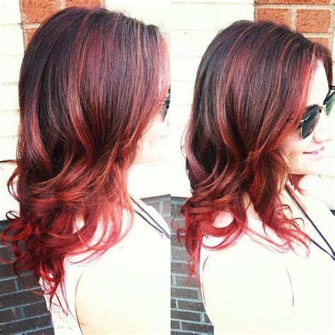 red lowlights 60 brilliant brown hair with red highlights
