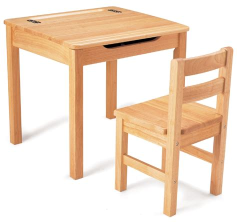 childrens desk and chair set children s natural wooden desk chair