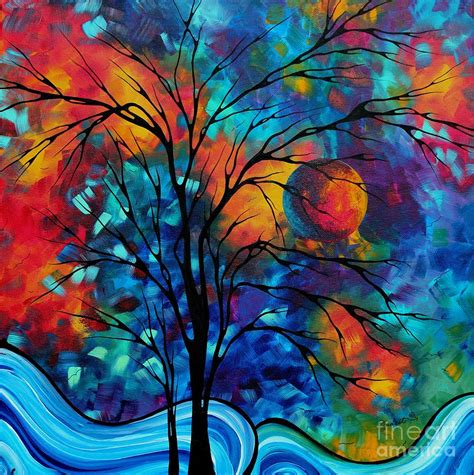 Lukisan Digital Abstrak 6 colorful landscape paintings painting abstract