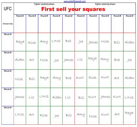 Search Results For Printable Football Squares Template Calendar 2015 Office Baby Pool Template Excel