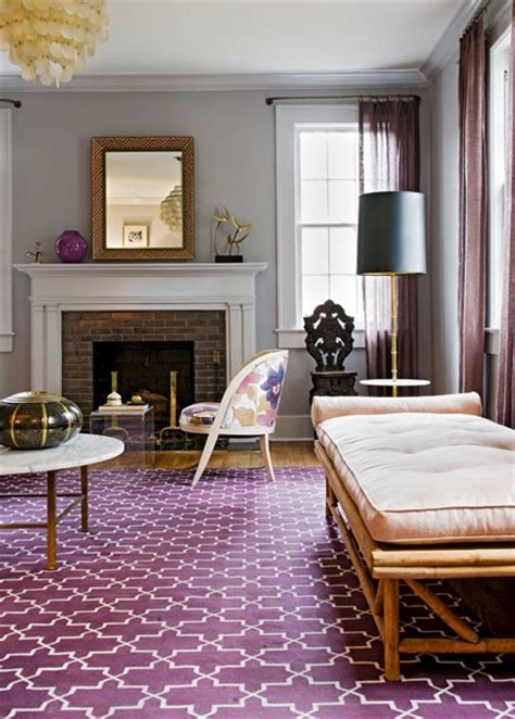 Purple Living Room Rugs by Interior Design Inspiration Photos By Angie Hranowsky