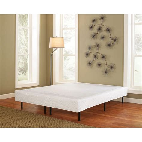bed frame cover rest rite 14 in queen metal platform bed frame with cover