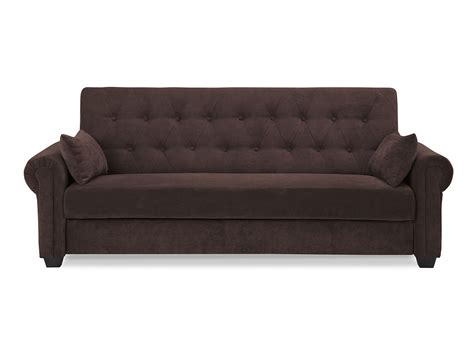 loveseat convertible andrea convertible sofa java by serta lifestyle