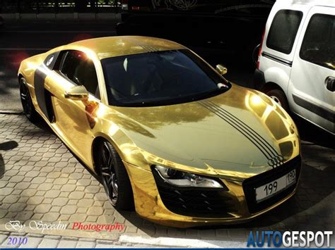 audi r8 gold audi r8 gold another victim of a bling loving owner