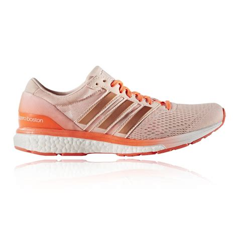 adidas adizero boston boost 6 womens pink orange sneakers running shoes ebay