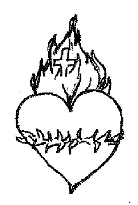 sacred heart coloring page how to draw sacredheart