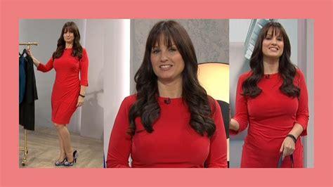 youtube catherine huntley catherine huntley tight red dress qvc uk 031017 youtube