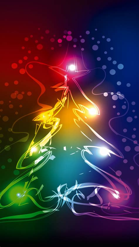 wallpaper christmas tree abstract colorful  celebrations editors picks