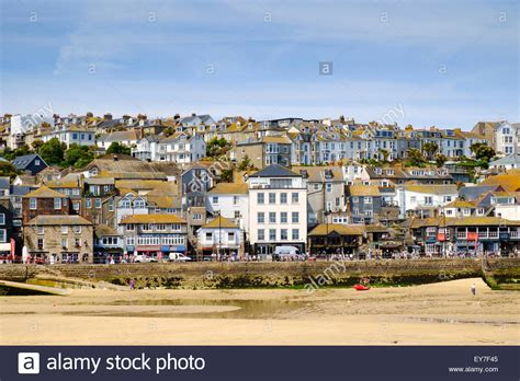 houses to buy in st ives st ives cornwall promenade and town houses in st ives uk in stock photo royalty