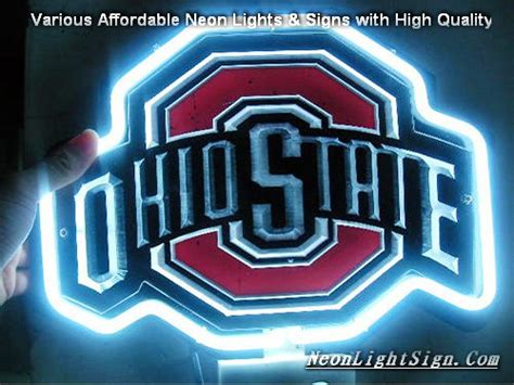 ohio state neon light ncaa ohio state 3d neon light sign neonlightsign