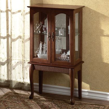 Small Curio Cabinets With Glass Doors by Small Standing Curio Cabinet Display Need Something