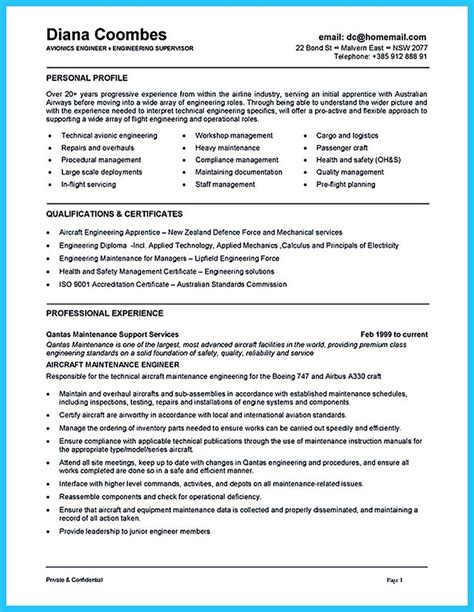 cool convincing design and layout for aircraft mechanic resume http snefci org convincing