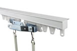 8 ft curtain track kit white ceiling mount ebay