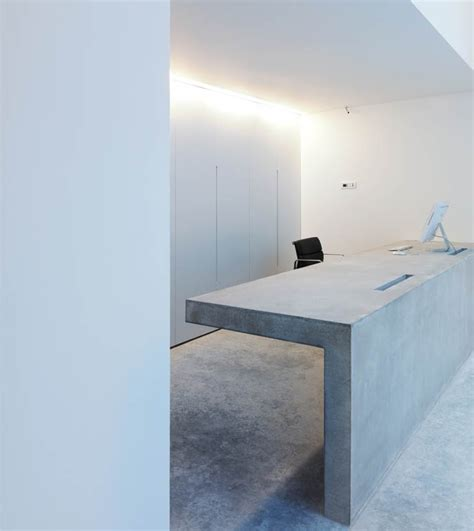 Concrete Reception Desk with 50 Reception Desks Featuring Interesting And Intriguing Designs