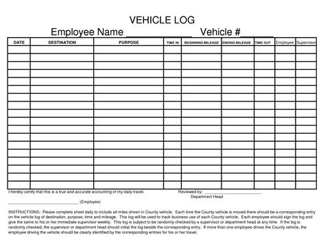employee log template best photos of vehicle sign out sheets printable