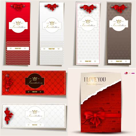 invitation card design vector luxury invitation card designs vector free stock vector