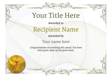 running certificates templates free free athletic running certificate templates inc printable