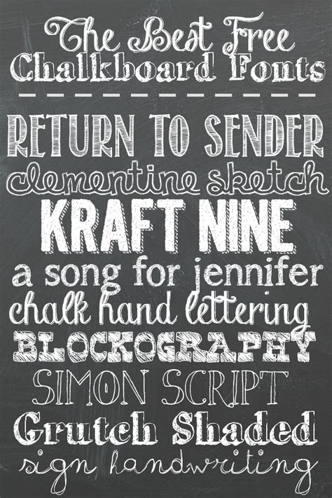 How To Make Home Decor Signs by The Best Free Chalkboard Fonts A Grande Life
