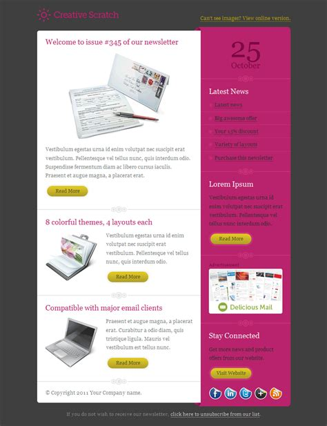 Creative Scratch Email Template By Gifky Themeforest Creative Email Templates