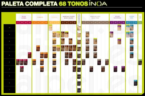 loreal inoa supreme colour chart loreal inoa supreme color chart colour chart loreal inoa