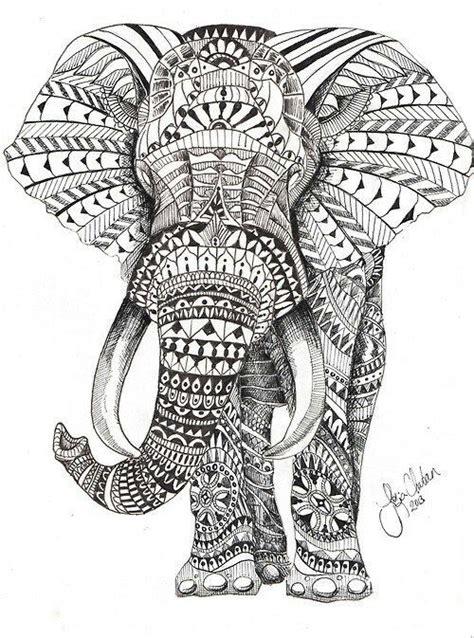 tattoo mandala zum ausmalen elephant woodburning pinterest ausmalbilder
