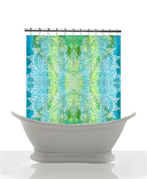 green and blue shower curtain artistic shower curtain batik green and blue watercolor