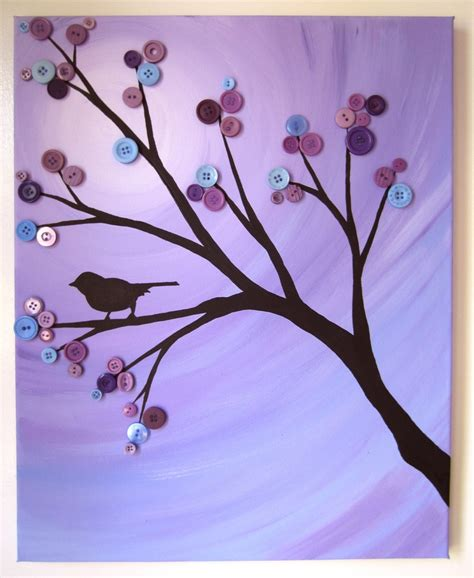 Button Painting the 25 best button tree canvas ideas on button tree button crafts and button