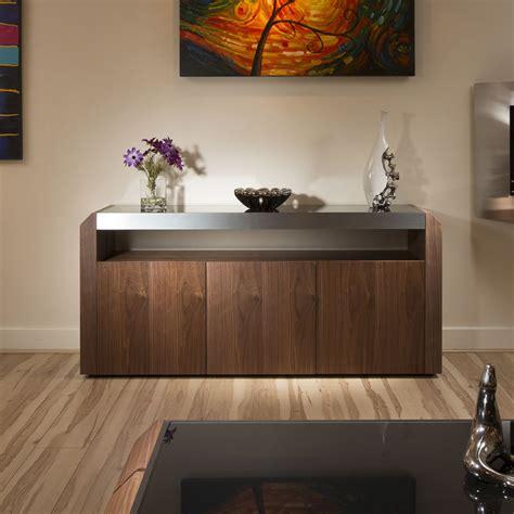 Sideboard 1 40 M by Modern Walnut Sideboard Cabinet Buffet Black Glass Top 1