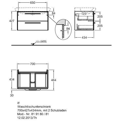schublade zeichnung keramag it waschtischunterschrank 70 cm 819180 megabad