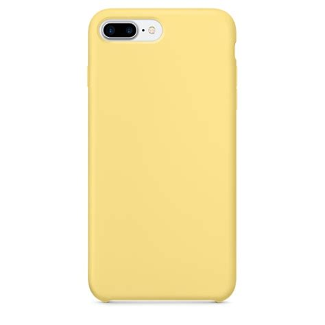for iphone 7 plus color liquid silicone pc protective back cover yellow alex nld