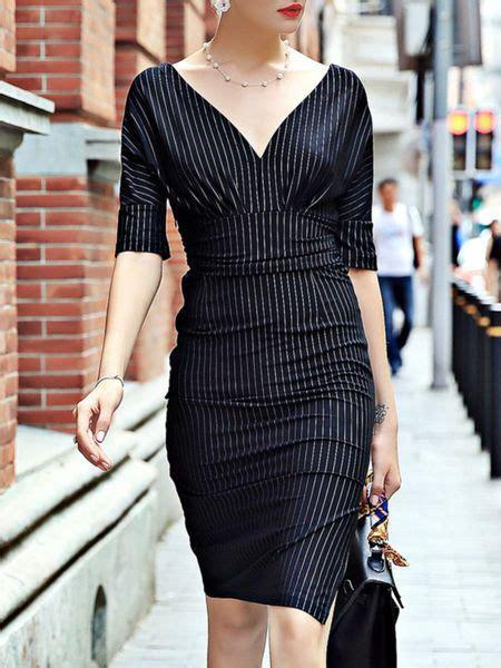 D1969 Baju Dress Gaun Midi Flower Print Casual Wanita printed stripe midi dress the bow and v neck at back fashion 2017