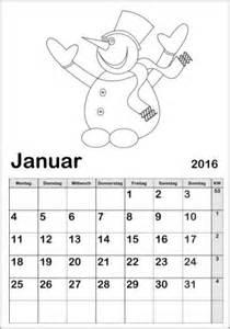 Kalender 2018 Zum Ausdrucken Für Kinder Kinderkalender 2018 Zum Ausmalen Ausdrucken Basteln