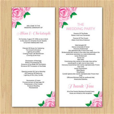 Wedding Ceremony Template Word by Best Wedding Ceremony Program Templates Products On Wanelo