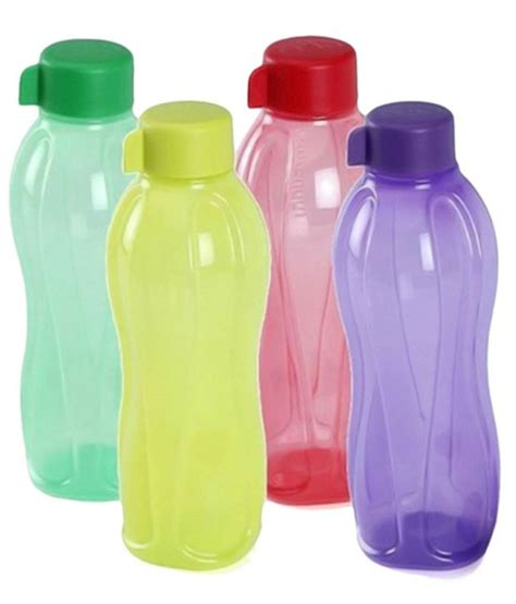 Sho Botol 1 Liter tupperware 1 litre aquasafe water bottle set of 4 buy at best price in india snapdeal