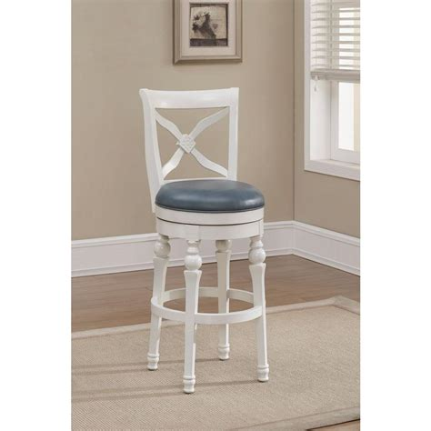 white counter height stools american heritage livingston 30 in antique white