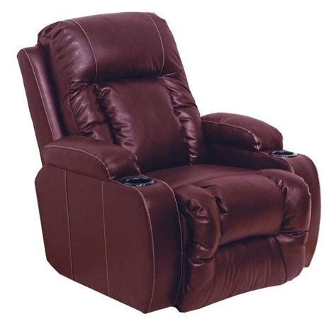red recliners catnapper top gun leather power theater recliner in red