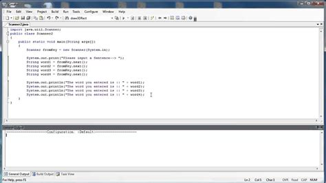 java tutorial keyboard input scanner class part 3 keyboard input next and nextline