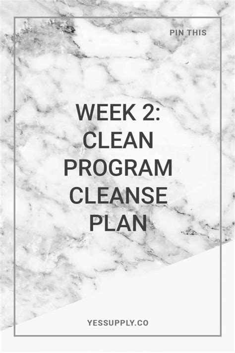 2 Week Detox Plan by Week 2 Clean Program Cleanse Plan 21 Day