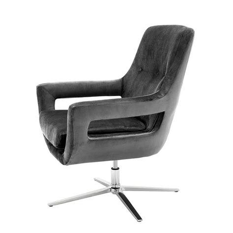 grey swivel armchair grand office swivel armchair in granite grey fabric for