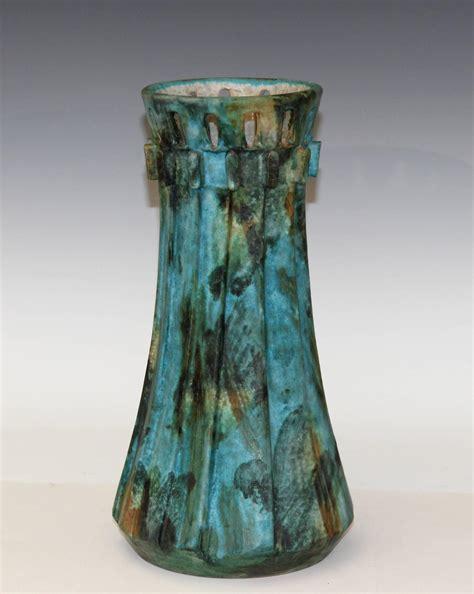Italian Vases by Vintage Bagni 1960s Large Sea Garden Glaze Italian