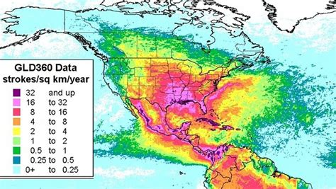 weather map usa and mexico mexico has highest rate of from lightning strikes in