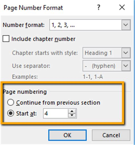number to section 8 office how to add page numbers in word and use different formats